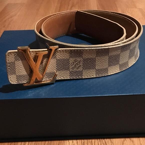 c3c75786b25d Louis Vuitton Other - Authentic Louis Vuitton Belt white damier